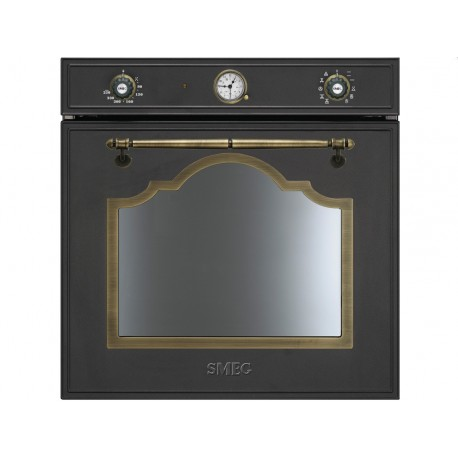 SMEG ELECTRIC THERMOVENTILATED OVEN SF750AO ANTHRACITE CORTINA DESIGN 60 CM