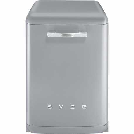 SMEG LVFABSV FREE-STANDING DISHWASHER SILVER 60 CM 50's STYLE