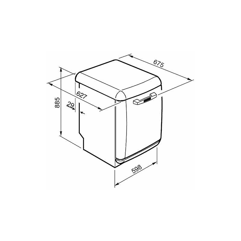 lave vaisselle pose libre orange smeg lvfabor 60 cm. Black Bedroom Furniture Sets. Home Design Ideas