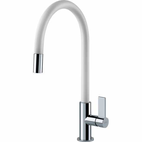 FRANKE AMBIENT SINGLE LEVER SINK MIXER TAP CHROME AND ALUNIMIUM