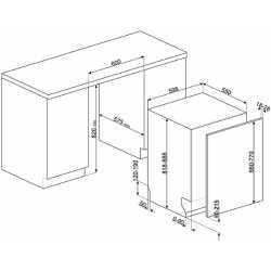 LAVE-VAISSELLE SMEG STL7224L TOUT INTÉGRABLE 60 CM CLASSE A+++