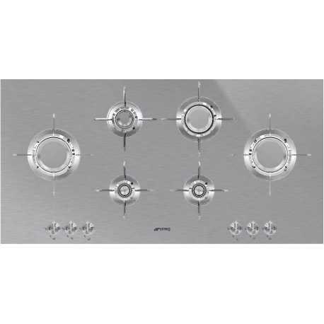 TABLE DE CUISSON SMEG PXL6106 INOX 100 CM DOLCE STIL NOVO