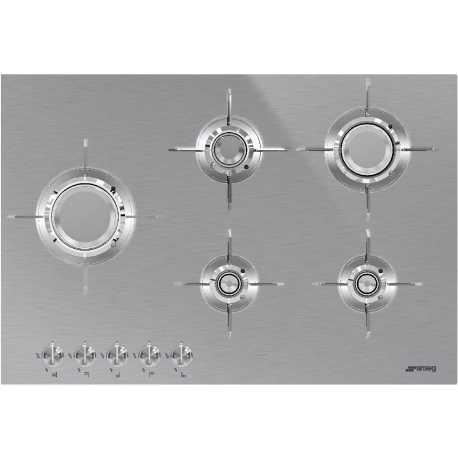 SMEG PXL675L GAS HOB DOLCE STIL NOVO STAINLESS STEEL 75 CM