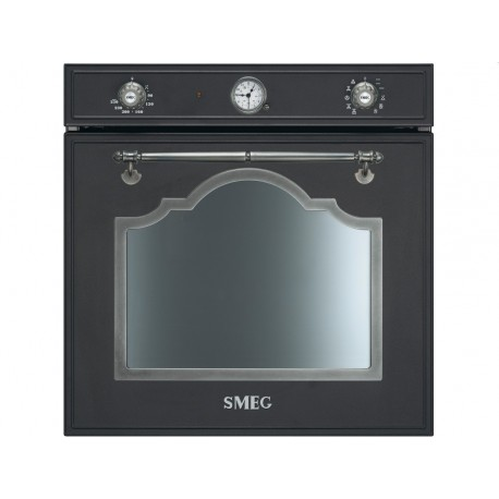 FOUR ÉLETRONIQUE THERMOVENTILATED SMEG SF750AS ANTHRACITE ESTHÉTIQUE CORTINA 60 CM