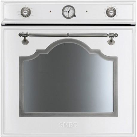 SMEG ELECTRIC THERMOVENTILATED OVEN SF750BS WHITE CORTINA DESIGN 60 CM
