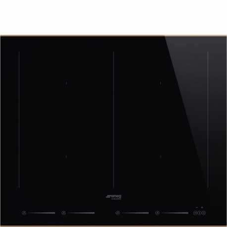SMEG SIM662WLDR INDUCTION HOB DOLCE STIL NOVO BLACK CERAMIC GLASS 60 CM