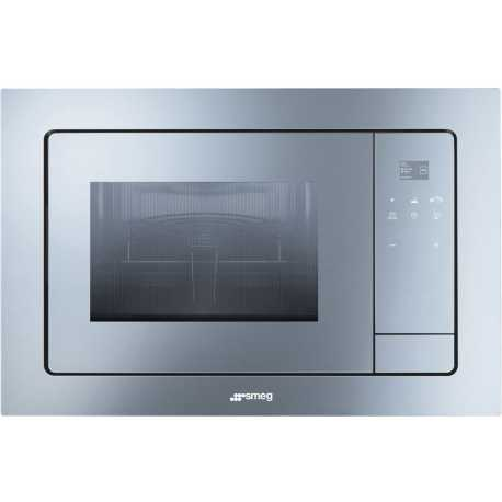 SMEG MICROWAVE OVEN WITH ELECTRIC GRILL FMI120 SILVER GLASS