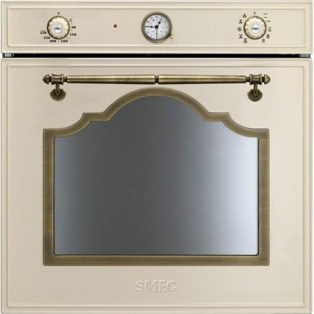 SMEG ELECTRIC THERMOVENTILATED OVEN SF750PO CREAM CORTINA DESIGN 60 CM