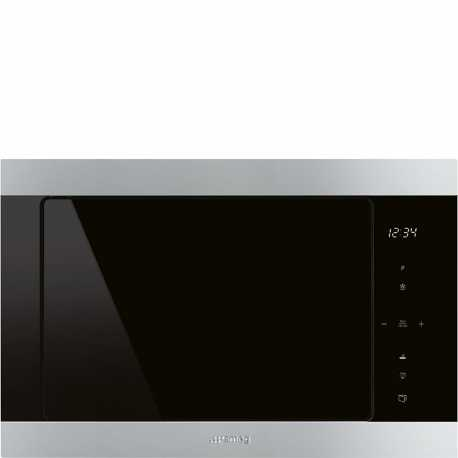 SMEG BUILT-IN MICROWAVE OVEN WITH ELECTRIC GRILL FMI325X