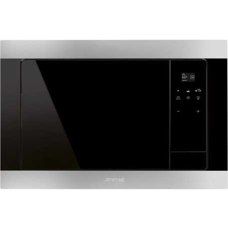 SMEG BUILT-IN MICROWAVE OVEN WITH ELECTRIC GRILL FMI320X