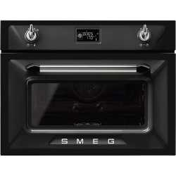 SMEG COMBINATION STEAM OVEN SF4920VCN1 BLACK VICTORIA DESIGN