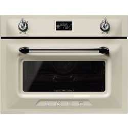 SMEG COMBINATION STEAM OVEN SF4920VCP1 CREAM VICTORIA DESIGN