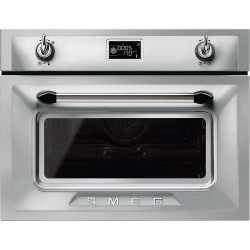 SMEG COMBI MICROWAVE OVEN SF4920MCX1 STAINLESS STEEL VICTORIA DESIGN