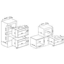 SMEG COMBI MICROWAVE OVEN SF4920MCB1 WHITE VICTORIA DESIGN