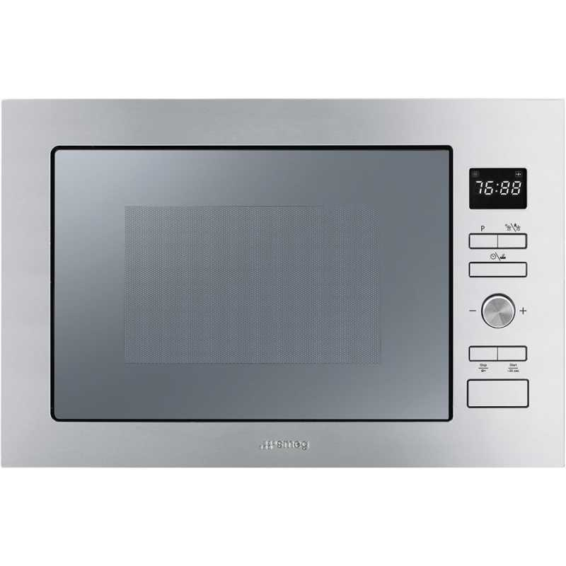 Smeg built in microwave oven with electric grill fmi025x - Micro onde smeg ...