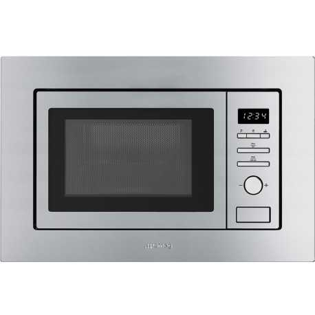 SMEG BUILT-IN MICROWAVE OVEN WITH ELECTRIC GRILL FMI020X