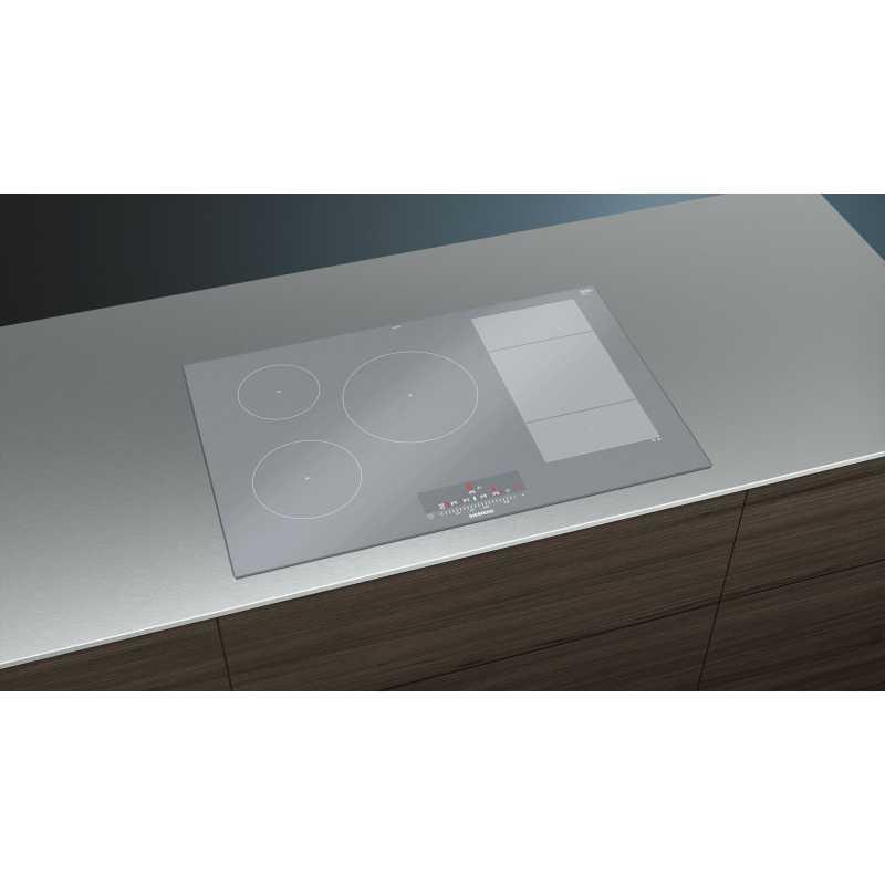 siemens induction hob ex879fvc1e metal look 80 cm fab appliances. Black Bedroom Furniture Sets. Home Design Ideas