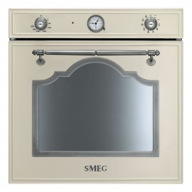 SMEG ELECTRIC THERMOVENTILATED OVEN SF750PS CREAM CORTINA DESIGN 60 CM