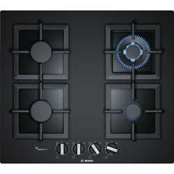 BOSCH GAS HOB PPH6A6B20 BLACK GLASS 60 CM