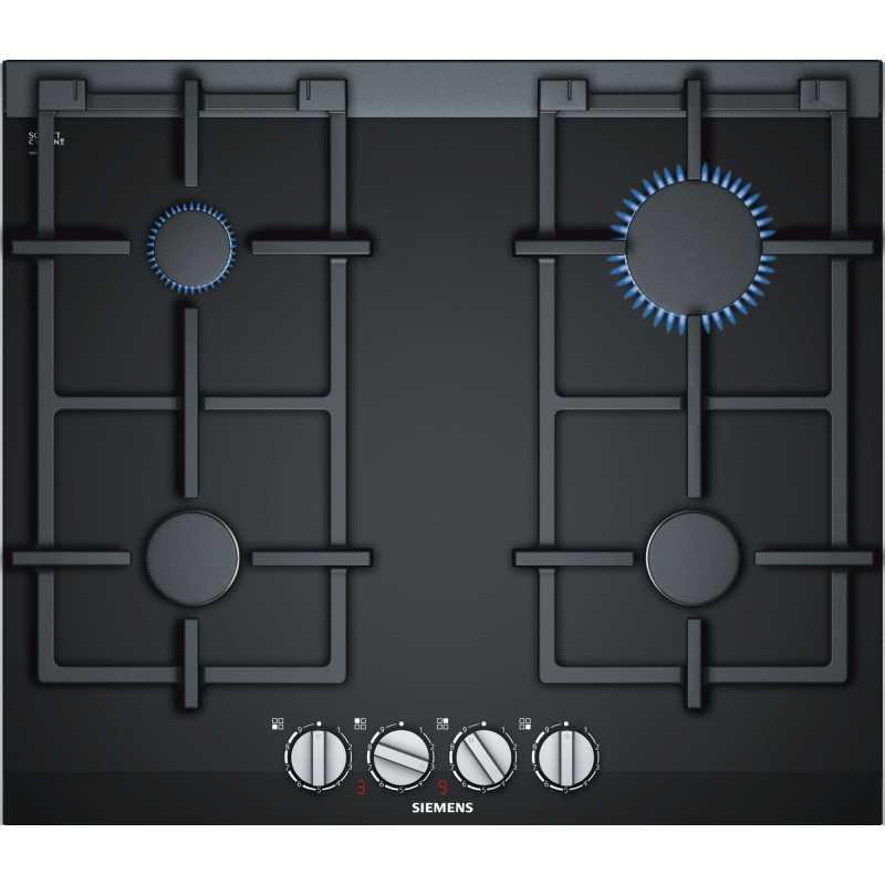 siemens gaskochfeld er6a6pd70 glaskeramik schwarz 60 cm fab applia. Black Bedroom Furniture Sets. Home Design Ideas