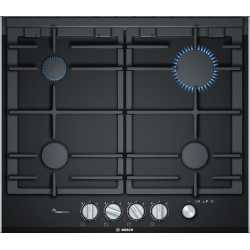 BOSCH GAS HOB PRP6A6N70 BLACK CERAMIC GLASS 60 CM
