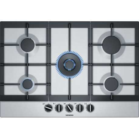 SIEMENS GAS HOB EC7A5RB90 STAINLESS STEEL 75 CM