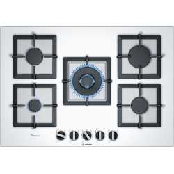 BOSCH GAS HOB PPQ7A2B20 WHITE GLASS 75 CM