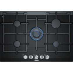 SIEMENS GAS HOB ER7A6RD70 BLACK CERAMIC GLASS 75 CM