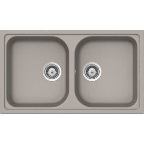 SCHOCK KITCHEN SINK LITHOS N200 CRISTALITE UMBER