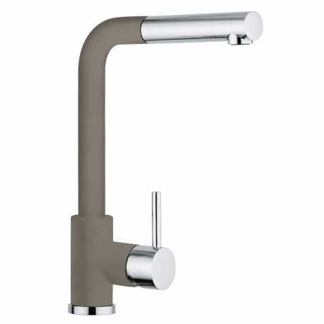 SCHOCK AQUAVIVA SINGLE LEVER KITCHEN SINK MIXER TAP WITH PULL OUT SPRAY CHROME AND UMBER