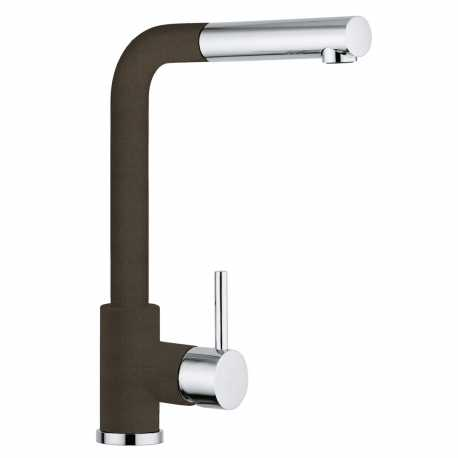 SCHOCK AQUAVIVA SINGLE LEVER KITCHEN SINK MIXER TAP WITH PULL OUT SPRAY CHROME AND BRONZE