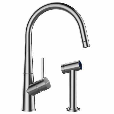 SCHOCK CONOS PRO SINGLE LEVER KITCHEN SINK MIXER TAP WITH SEPARATED SHOWER STAINLESS STEEL