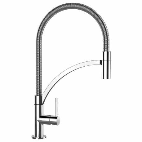 SCHOCK MERA SINGLE LEVER KITCHEN SINK MIXER TAP WITH PULL OUT SPRAY CHROME