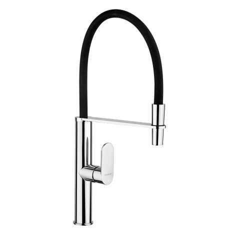 SCHOCK AQUASHAKE SINGLE LEVER KITCHEN SINK MIXER TAP WITH PULL OUT SPRAY CHROME