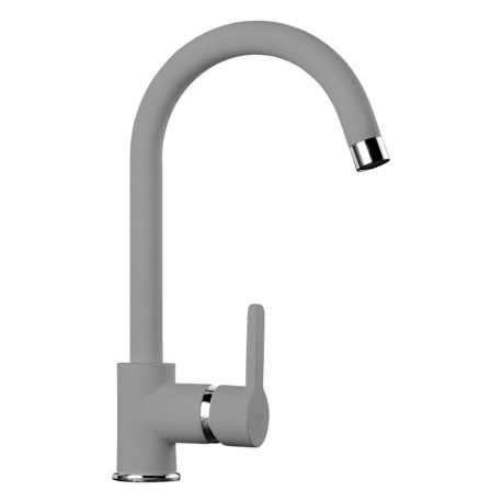 SCHOCK AQUAALTO SINGLE LEVER SINK MIXER TAP PURE GRAY