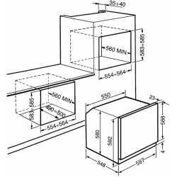 SMEG SFP6604NXE DOLCE STIL NOVO SELF-CLEANING OVEN 60 CM