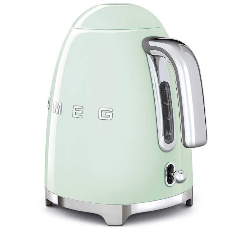 bouilloire smeg vert d 39 eau klf03pgeu esth tique ann es 50 fab appl. Black Bedroom Furniture Sets. Home Design Ideas