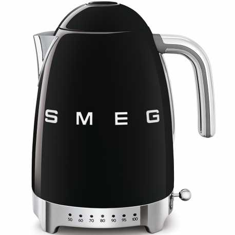 SMEG VARIABLE TEMPERATURE KETTLE 50'S STYLE BLACK KLF04BLEU