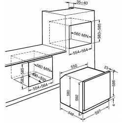 SMEG ELECTRIC MULTIFUNCTION PYROLYTIC OVEN SFP6102TVB WHITE