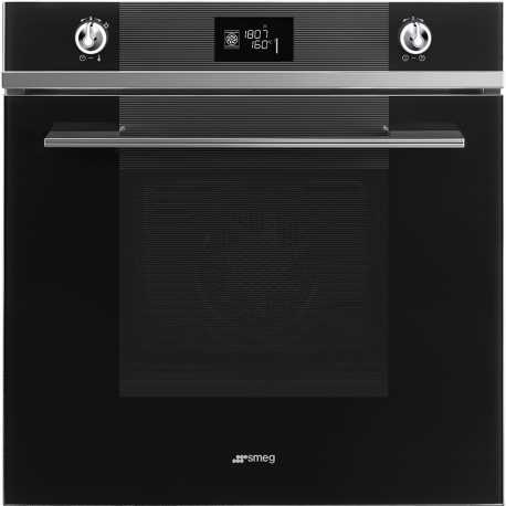 SMEG ELECTRIC MULTIFUNCTION PYROLYTIC OVEN SFP6102TVN BLACK