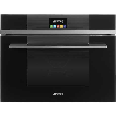 SMEG COMPACT COMBI STEAM OVEN SF4104VCN BLACK