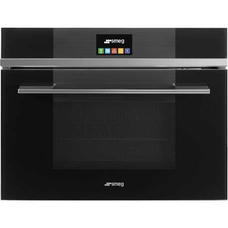 SMEG COMPACT COMBI MICROWAVE OVEN SF4104MCN BLACK