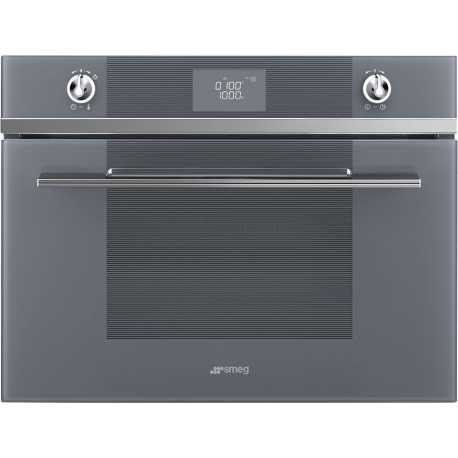SMEG COMPACT COMBI MICROWAVE OVEN SF4102MCS SILVER