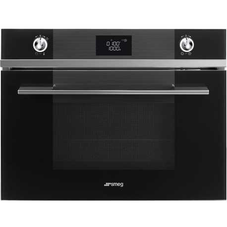 SMEG COMPACT COMBI MICROWAVE OVEN SF4102MCN BLACK