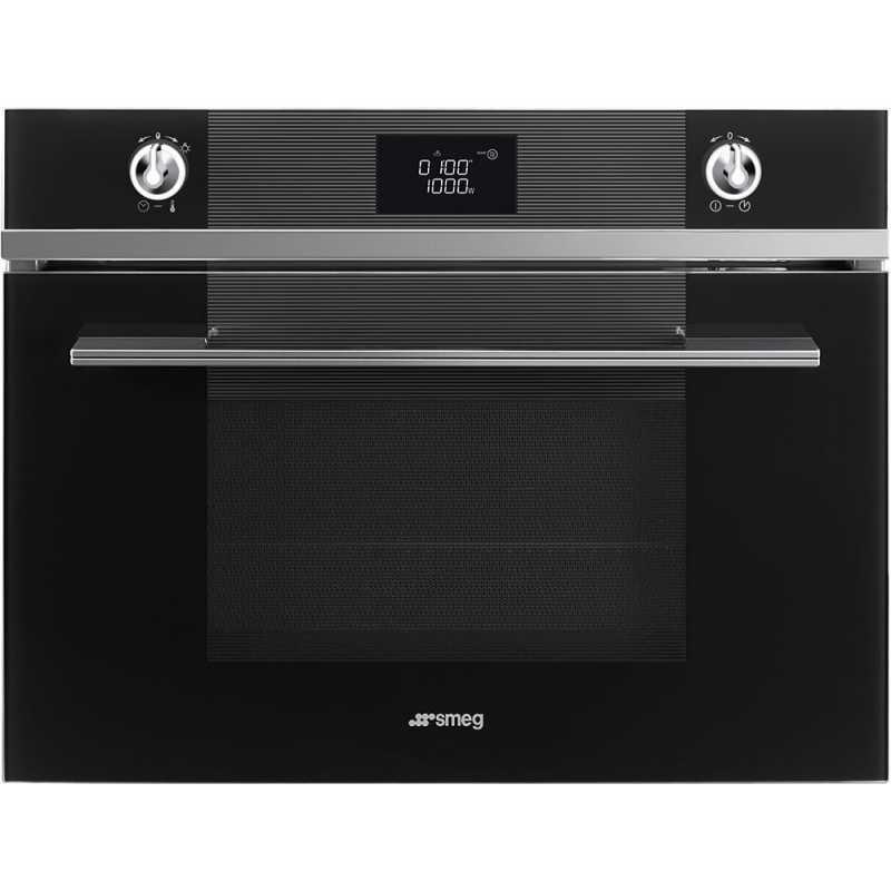 Smeg Compact Microwave Oven Sf4102mn Black