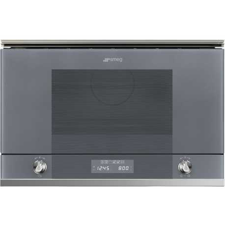 SMEG MICROWAVE OVEN WITH ELECTRIC GRILL MP122S1 SILVER GLASS 60 CM