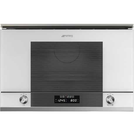 SMEG MICROWAVE OVEN WITH ELECTRIC GRILL MP122B1 WHITE GLASS 60 CM