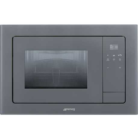 SMEG MICROWAVE OVEN WITH ELECTRIC GRILL FMI120S1 SILVER GLASS