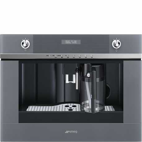 SMEG BUILT-IN COFFEE MACHINE WITH CAPPUCCINO MAKER CMS4101S SILVER
