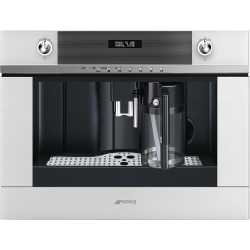 SMEG MACHINE À CAFÉ ENCASTRABLE CMS4101B VERRE BLANC
